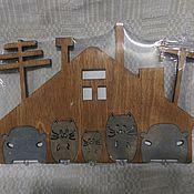 Для дома и интерьера ручной работы. Ярмарка Мастеров - ручная работа Ключница Домик. Handmade.