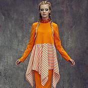 Одежда ручной работы. Ярмарка Мастеров - ручная работа Комплект LIPA юбка  и блуза оранж 15. Handmade.