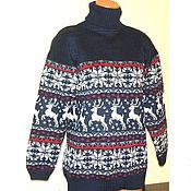 Одежда handmade. Livemaster - original item Knitted sweater with a Norwegian ornament. Handmade.