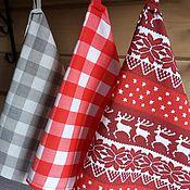 Для дома и интерьера handmade. Livemaster - original item Kitchen towels Scandinavia red. Handmade.