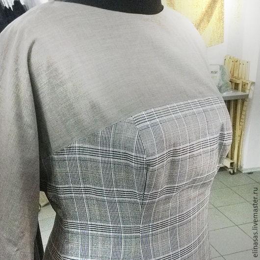 Платья ручной работы. Ярмарка Мастеров - ручная работа. Купить Платье классическое серо в клеточку. Handmade. Серый, натуральная шерсть
