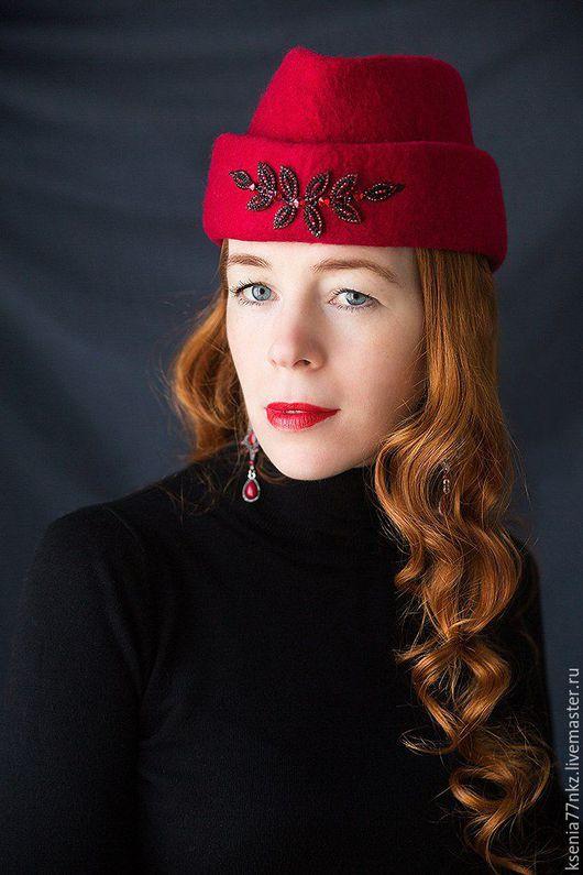 """Шляпы ручной работы. Ярмарка Мастеров - ручная работа. Купить Шляпа  пилотка """"Роковая"""". Handmade. Шляпка, пилотка, шляпа женская"""