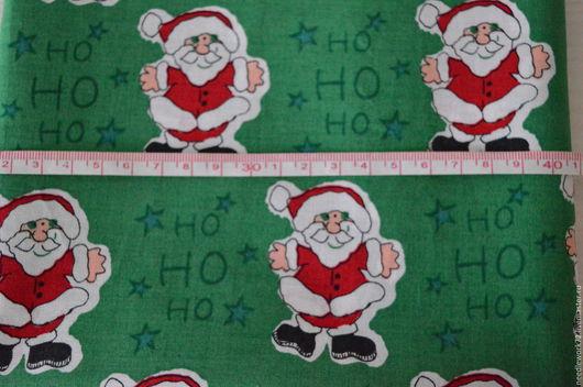 Шитье ручной работы. Ярмарка Мастеров - ручная работа. Купить Хлопок Рождество. Handmade. Зеленый, ткань, ткань для рукоделия