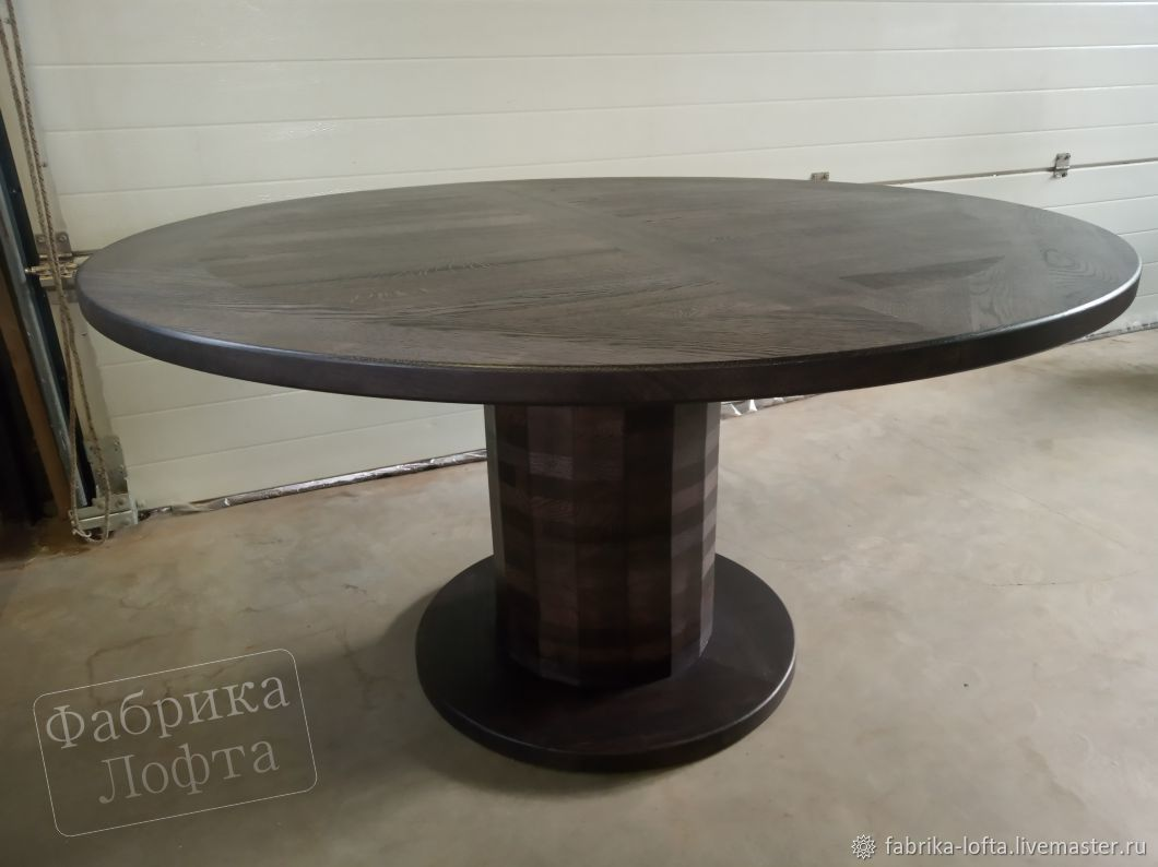 Round table made of oak 1500 mm, Tables, Moscow,  Фото №1