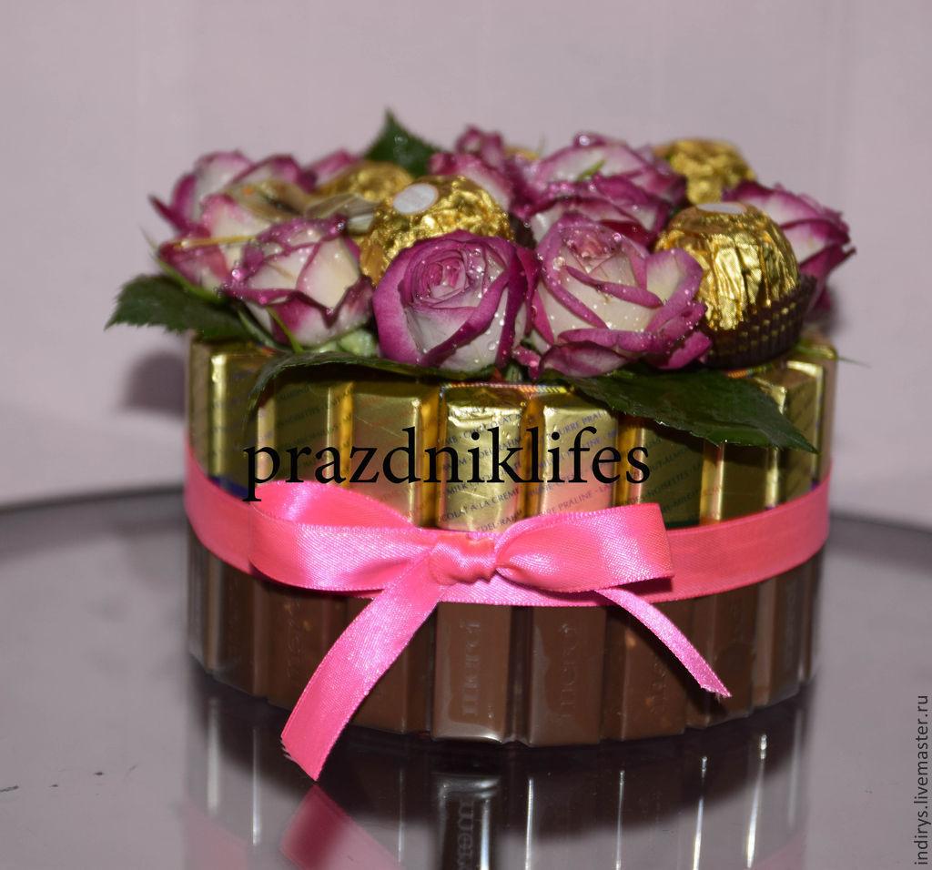 Цветы и конфеты подарки и сувениры на заказ во Владивостоке