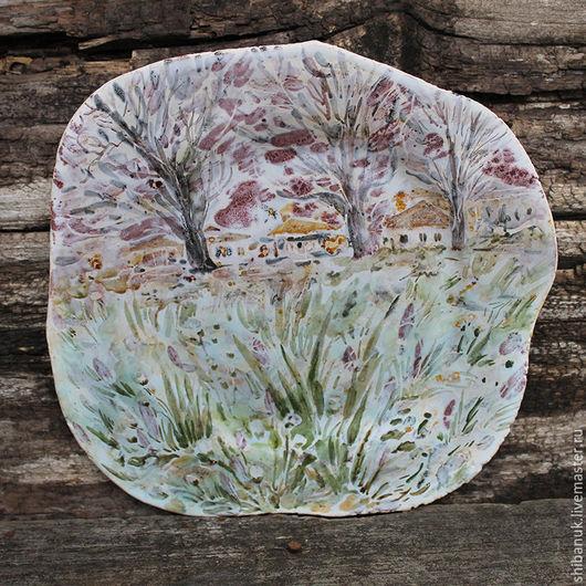 """Тарелки ручной работы. Ярмарка Мастеров - ручная работа. Купить Керамическая тарелка """"Лукка. Февраль"""". Handmade. Тарелка, тарелка на стену"""