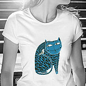 Одежда handmade. Livemaster - original item Blue friendship t shirt. Handmade.