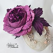 """Украшения ручной работы. Ярмарка Мастеров - ручная работа Роза """"Viola"""". Handmade."""