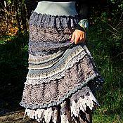 Одежда handmade. Livemaster - original item BOHO skirt made of lace and cotton yarn (365). Handmade.