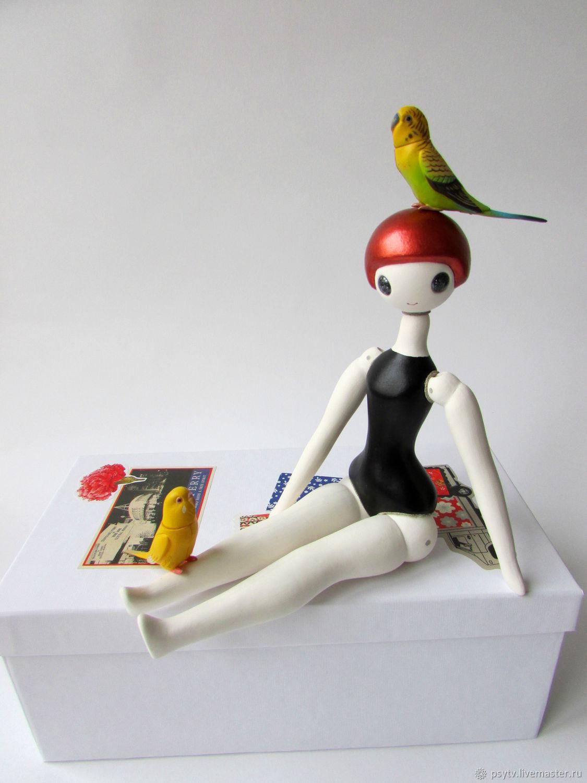Шарнирная кукла Гимнастка №5. в черном купальнике – купить ...