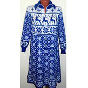 Одежда handmade. Livemaster - original item Sweater dress knitted Christmas reindeer and Norwegian ornament-2. Handmade.