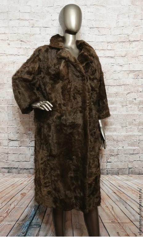 Верхняя одежда ручной работы. Ярмарка Мастеров - ручная работа. Купить шуба из козы. Handmade. Коричневый, тепло, зима мода