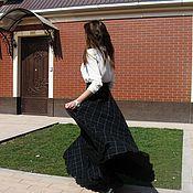 Одежда handmade. Livemaster - original item Warm skirt in floor pocket