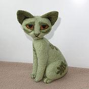 Куклы и игрушки ручной работы. Ярмарка Мастеров - ручная работа Орнаментальный кот Оливиан. Handmade.