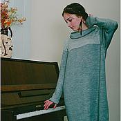 Одежда ручной работы. Ярмарка Мастеров - ручная работа Платье свело-серое комфорт. Handmade.