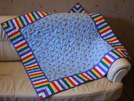 """Пледы и одеяла ручной работы. Ярмарка Мастеров - ручная работа. Купить Детское лоскутное одеяло """"Юный автолюбитель"""". Handmade."""