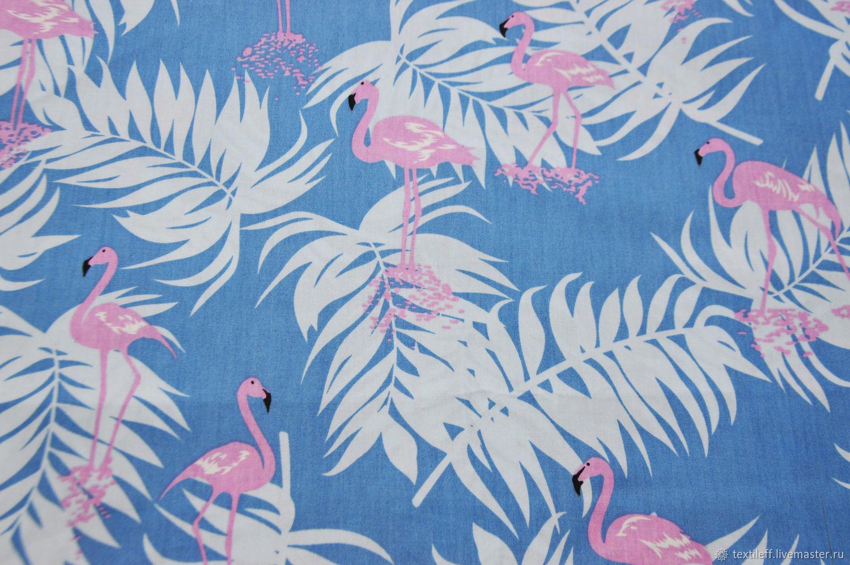 картинка с фламинго на голубом фоне всего