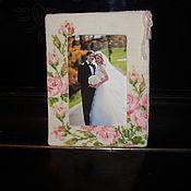 "Сувениры и подарки handmade. Livemaster - original item Photo frame ""Roses"". Handmade."
