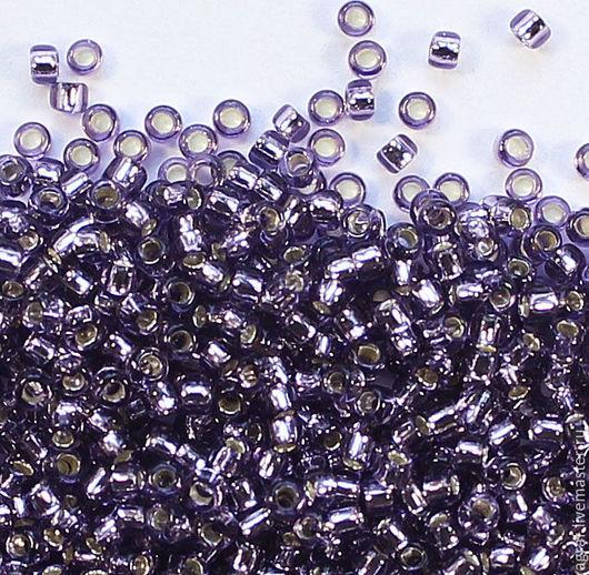 Для украшений ручной работы. Ярмарка Мастеров - ручная работа. Купить Круглый 15/0 TOHO 39 Light Purple Silver Lined японский бисер. Handmade.