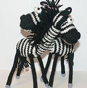 Куклы и игрушки ручной работы. Ярмарка Мастеров - ручная работа Позитивные зебры. Handmade.