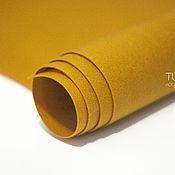 Материалы для творчества ручной работы. Ярмарка Мастеров - ручная работа Фетр под термотрансфер горчичный 1,0 мм жесткий. Handmade.