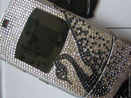 Для телефонов ручной работы. Ярмарка Мастеров - ручная работа. Купить Телефон инкрустированный. Handmade. Разноцветный