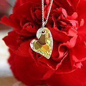 Украшения handmade. Livemaster - original item Small Heart. Pendant. Swarovski Crystal. Handmade.
