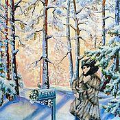 """Картины и панно ручной работы. Ярмарка Мастеров - ручная работа Картина """"Вам подснежники"""". Handmade."""