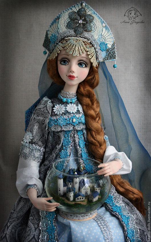 Коллекционные куклы ручной работы. Ярмарка Мастеров - ручная работа. Купить Берегиня. Handmade. Синий, оригинальный подарок, бисер