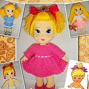Материалы для творчества handmade. Livemaster - original item Master class on knitting dolls of Milena. Handmade.
