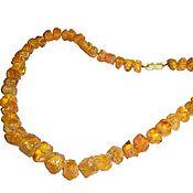 Украшения handmade. Livemaster - original item Amber beads natural rough stone healing amber yellow. Handmade.