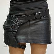 Сумки и аксессуары handmade. Livemaster - original item Black Leather Legbag. Handmade.