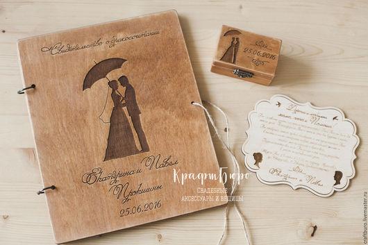 Папка для свидетельства о браке, из дерева. Свадебная папка, папка в загс, папка для документов.