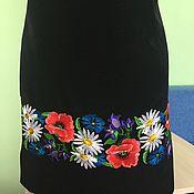 Одежда handmade. Livemaster - original item Embroidered dress, workpiece for tailoring dresses. Handmade.