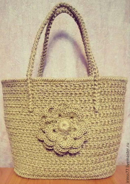Женские сумки ручной работы. Ярмарка Мастеров - ручная работа. Купить Летняя сумка из джутового шпагата. Handmade. Бежевый
