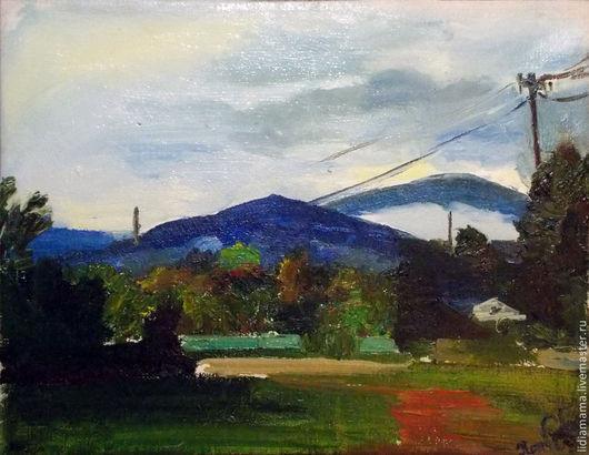 Картина. Абхазия. Облака в горах работа Ольги Петровской-Петовраджи
