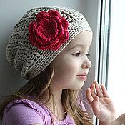 Работы для детей, ручной работы. Ярмарка Мастеров - ручная работа Льняная шапочка. Handmade.