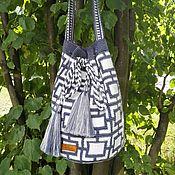 Классическая сумка ручной работы. Ярмарка Мастеров - ручная работа N5 Сумка по мотивам колумбийской сумки Mochila (Мочила). Handmade.