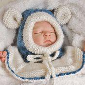 """Работы для детей, ручной работы. Ярмарка Мастеров - ручная работа Шапка-шлем для малыша """"Мышонок малыш"""". Handmade."""