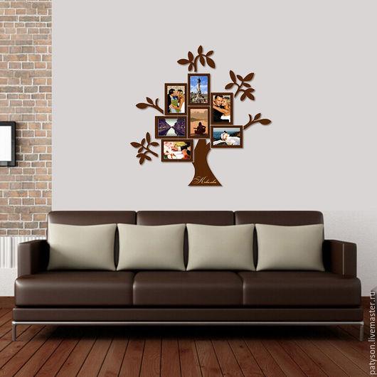 Прекрасный подарок на свадьбу или семейный юбилей - фоторамка Семейное дерево