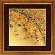 Этно ручной работы. Ярмарка Мастеров - ручная работа. Купить Стихия Огонь - картина из сусального золота 960 пробы. Handmade.
