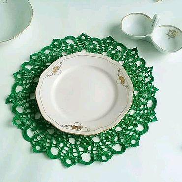 Для дома и интерьера handmade. Livemaster - original item Decorative napkin. Doily crochet. Handmade.