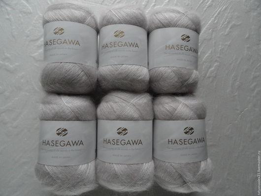 Вязание ручной работы. Ярмарка Мастеров - ручная работа. Купить Пряжа Hasegawa Seika № 24 SILVER GRAY. Handmade.