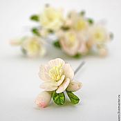 Свадебный салон ручной работы. Ярмарка Мастеров - ручная работа Цветы для прически на шпильках. Handmade.