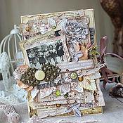 Открытки handmade. Livemaster - original item Postcard in vintage style in stock. Handmade.