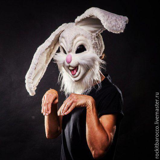 Карнавальные костюмы ручной работы. Ярмарка Мастеров - ручная работа. Купить шлем-маска кролика. Handmade. Белый, маска, maskcraft