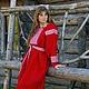 """Одежда ручной работы. Ярмарка Мастеров - ручная работа. Купить Женская рубаха """"Перунов цвет"""". Handmade. Ярко-красный, Вышиванка"""