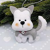 Сувениры и подарки handmade. Livemaster - original item Puppies. The dog felt. Husky. Handmade.