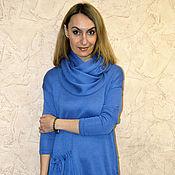 Одежда ручной работы. Ярмарка Мастеров - ручная работа Платье свободное с карманом и снудом. Handmade.
