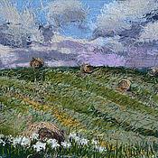 Картины и панно handmade. Livemaster - original item Textile panel Hay. Handmade.